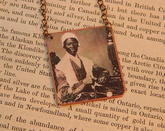 Sojourner Truth necklace mixed media jewelry Ain't I A Woman Black History Month