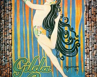 Gesmar Gilda Gray Vintage Art Print, Gesmar Art, Fashion Art, Vintage Gesmar Art, Vintage Art, Giclee Art Print, fine Art Reproduction