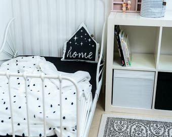 baby bedding   crib bedding   todler bedding  black and white bedding   soft bedding   soft blanket