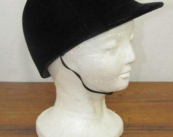 Black velvet equestrian helmet size 6 7/8