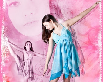 """Ballet Dance Collage 24x36"""" Photoshop Template for Photographers"""