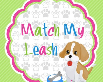 Matching Leash 4 or 5 Foot 3/4 Inch Width