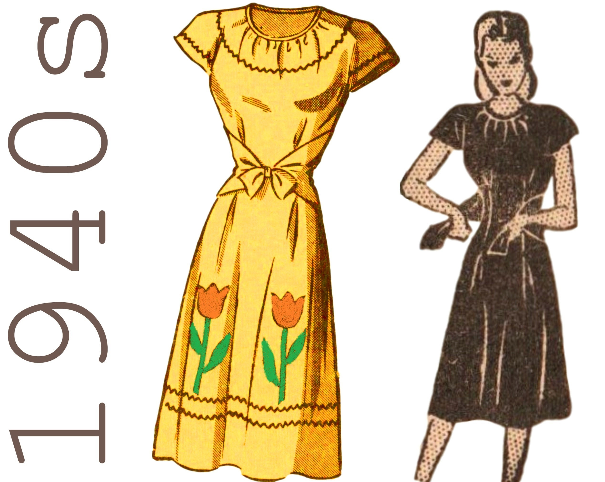 1940s Dress Pattern Vintage Patio Dress MAIL ORDER PATTERN