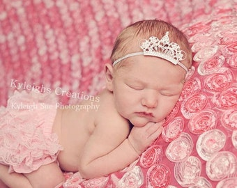 Newborn crown headband, newborn tiara, baby crown, newborn headband, newborn prop