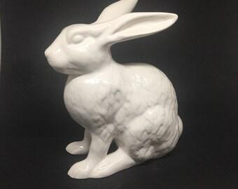 White ceramic rabbit