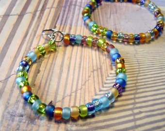 Beach Party hoop earrings
