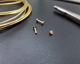 Gold 16g 3mm Internally Threaded flat disk ONLY