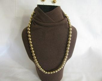 Vintage Park Lane Goldtone Necklace and Earring Set