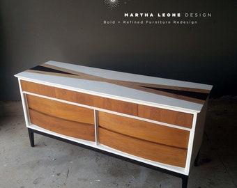 AVAILABLE  Mid Century Dresser, Customized