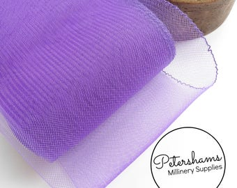 15cm (6 inch) Wide Crinoline (Crin, Horsehair Braid) for Hats, Millinery, and Fascinators - Purple