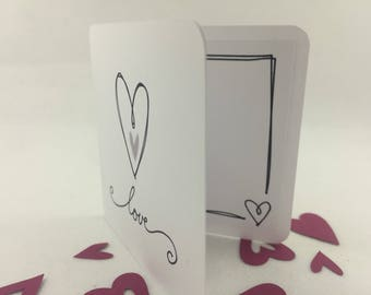 Valentine's Day Love card with envelope
