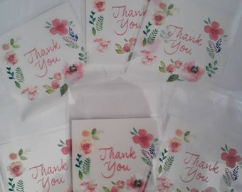 Mini bags transparent patterns THANKS YOU - 7 x 7 CM - pockets gifts - resealable bags - plastic bags for candy, jewelry etc.