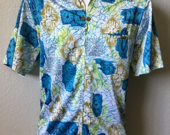 1970s Waltah Clarke's Hawaiian shops shirt