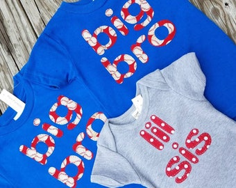 sibling shirt set of 3 any combination your choice of letters