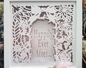 Personalised wedding anniversary gift frame