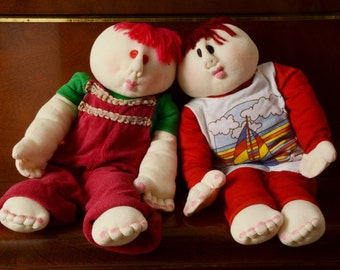 Soft Sculptured Doll. Big Stuffed Doll. Boy with Red Hair Soft Doll. Jersey Cotton Doll Home Decor Teens' Room Decor Handmade Huggable Doll