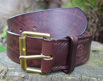 Roller Buckle Belt - 1 inch / 1 1/4 inch / 1 1/2 wide / 2 inch (Extra Wide) Custom Belt - Mens - Womens - Bushcraft - Explorer - UK Made