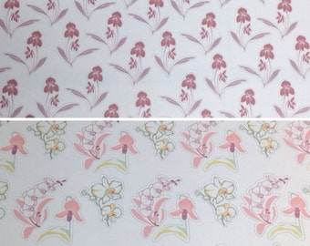 Choose set of orchid or flower stickers -  for your EC planner