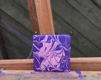 Purple n pink-acrylic on mini thin canvas