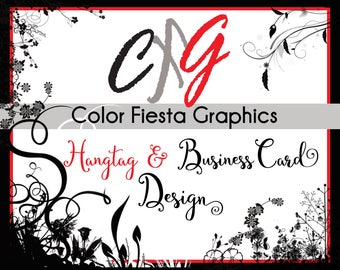 Custom Hang Tag and Business Card design