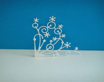 Cut corner white stars for scrapbooking and card