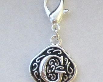 Vintage  Letter G  Dangle  Lobster Claw for Necklace - Bracelets - Key Chains