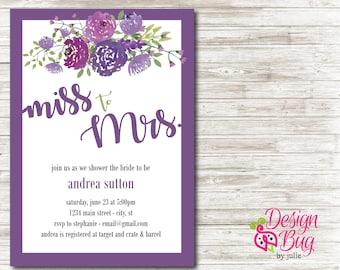 Wedding Shower Invite - Miss to Mrs.
