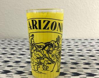 Vintage 50's Hazel Frosted Arizona State Souvenier High Ball Glass