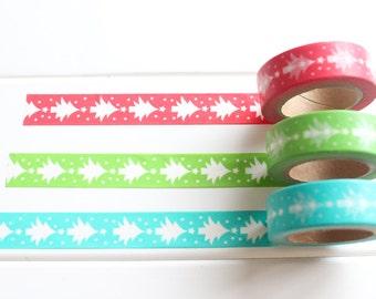 Christmas Tree Washi Tape, Christmas Washi Tape, Christmas Wrapping, Christmas Stickers (XM-102,103,104)