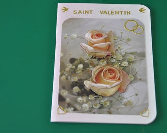 Salmon pink Valentine's Day card