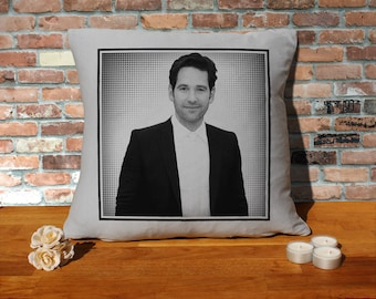 Paul Rudd Pillow Cushion - 16x16in - Grey