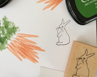 Easter Stamp - Bunny Rubber Stamp - Rabbit Stamp - Easter Bunny Stamp