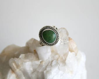 Green Turquoise Ring 6.5