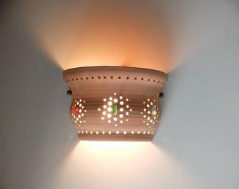 Wall light, Ceramic lamp, Home Decor Light, wall light Pendant, Wall fixture, wall lamp, wall sconce light, wall light fixture, lighting