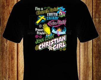 Jesus Loving Christian Girl T-Shirt