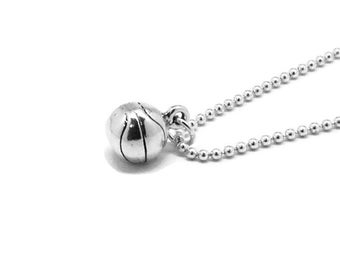 Basketball Necklace, Basketball Jewelry, Basketball Pendant, Charm Necklace, Sterling Silver Jewelry, Basketball Charm, Basketball,