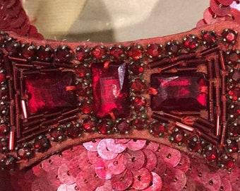 Bulk Order of 100: Custom Made Glass Reproduction Art Deco Stones - Dark Red