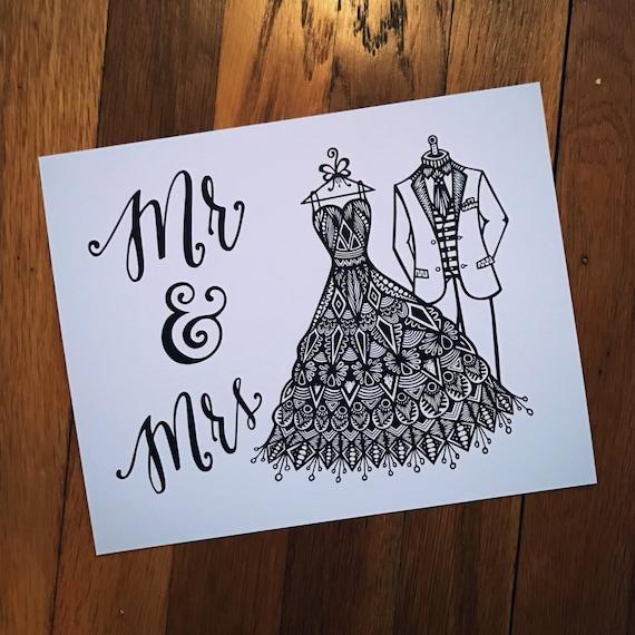 Zentangle - Mr. & Mrs.
