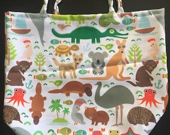 Aussie animal shopping bag