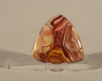 Ring Cabochon Painted Pony Jasper. Handcrafted USA. Natural Gemstone.