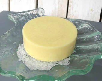 Lemon Soap, Coconut Milk Soap, Sea Salt Soap, Lemon Verbena, Salt Soap, Spa Bar, Gift For Her, Treat Yourself, Yellow Soap, Hostess Gift
