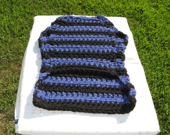 Large breed dog sweater, blue and black stripes sweater, greyhound sweater, big dog sweater