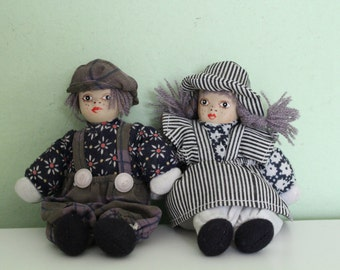 Set of 2 Hand Made Doll, Decorative Doll, Boy and Girl Doll, Home Decor