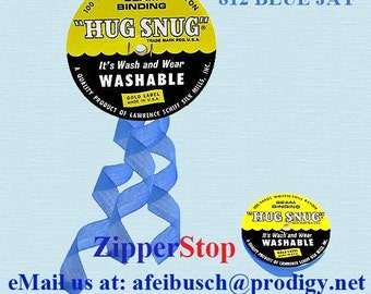 "BLUE JAY 812- Hug Snug Seam Binding - 100 yard roll 1/2"" Wide - 100% Woven-Edge Rayon - Schiff"