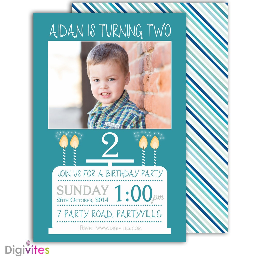 Photo Birthday Invitation/1st Birthday Invitation/Boy Birthday