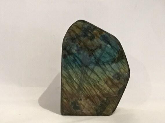 LABRADORITE// Polished Labradorite Statement Piece// Healing Gemstone// BEAUTIFUL Labradorite FREEFORM Piece // Home Decor// Healing Tools