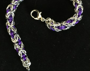 Beautiful Byzantine Weave Bracelet