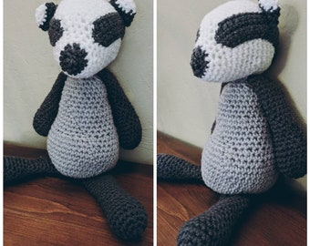 Crochet Stuffed Badger
