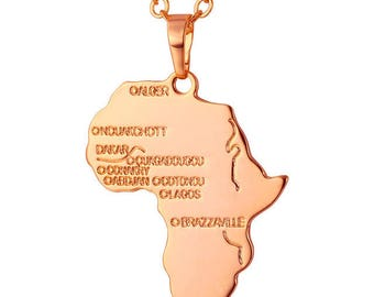 Rose Gold Africa Necklace