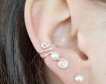 Pearl Swirl Ear Cuff